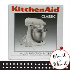 KitchenAid multi-function mixer. Want a chance to win it? Repin this to your board and fill out our entry form here: http://www.quickquid.co.uk/quid-corner/pin-win-1/