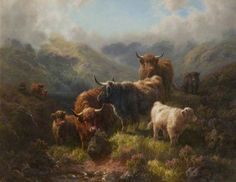 BBC - Your Paintings - Highland Cattle – Loch Long, Argyllshire