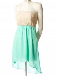 Lace High Low Dress - Dresses   cute outfits   Pinterest   High ...