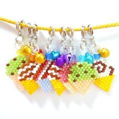 Brick Stitch Ice Cream Cone Pattern  •  Make a beaded charm in under 30 minutes