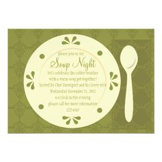 Soup Night Personalized Invites