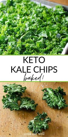 These baked keto kale chips are such a quick and healthy snack. A perfect replacement for popcorn or chips or as a side for your favorite healthy lunch! AIP, dairy free, gluten free, keto, low carb, paleo, whole30 and vegan, and so easy to make.
