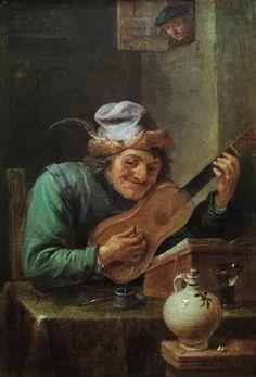 Le Guitariste - Par David Teniers le Jeune