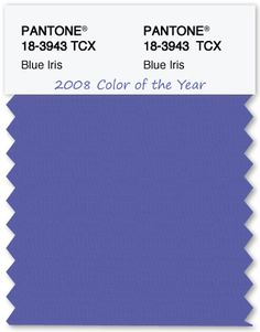 Color Swatch Pantone Color of the Year 2008 Blue Iris - TheLandofColor.com #pantone #coloroftheyear #blueiris