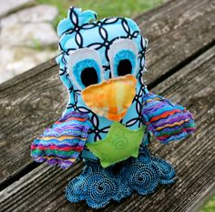 For the Little Ones by Kathy Lindemer on Etsy Thanks for featuring our Colorful Stuffed Bird from TwinSisCreations.Etsy.com #etteam #whimsy #handmade #kids #gifts