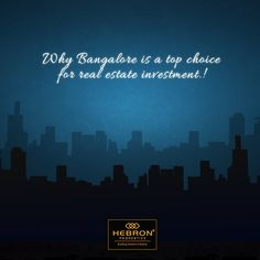 Bangalore is considered the IT hub of India with throngs of Indian and international IT companies setting up shop in the city. With state of the art infrastructure, well connected transport and quick modernisation around the city, it is no secret that Bangalore is a top choice for real estate investment.