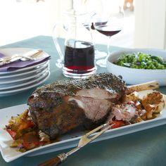 Try this easy leg of lamb for Easter or a dinner party. It's juicy in the…