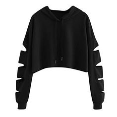 ISHOWTIENDA Fashion cropped hoodie Woman clothes Tops and Blouses Solid High Neck Drawstring Crop sweatshirts moletom feminino - Kleidung Crop Top Outfits, Cute Casual Outfits, Teen Fashion Outfits, Girl Outfits, Fashion Clothes, Sweatshirt Femme, Jugend Mode Outfits, Crop Top Hoodie, Cropped Hoodie Outfit