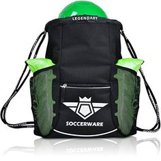 Soccer Bag Backpack with Ball Holder Pocket For Kids Yout...
