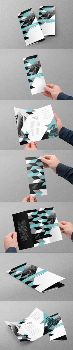 Clean Modern Business Trifold. Download here: http://graphicriver.net/item/clean-modern-business-trifold/11158783?ref=abradesign #trifold #brochure #design                                                                                                                                                                                 Más