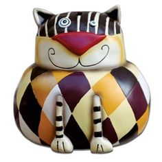 Cat Piggy Bank - Harlequin Cat Coin Money Bank