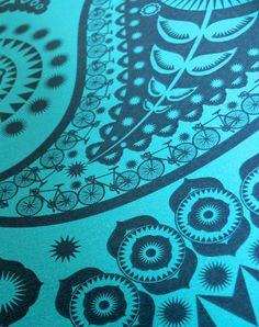 This print fuses the ornamentation of a traditional Indian-inspired paisley design with the ordered iconography of life in the commuter belt. Room Wallpaper, Paisley Design, Design Inspiration, Colours, Shapes, Traditional, Texture, Quilts, Mini