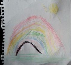 """Otro nuevo dibujo para nuestro """"pequeAlbum"""" con el que nos ha sorprendido el pequeño Nacho a punto de cumplir 5  añitos y que lo ha titulado """"Arco Iris"""". Se lo agradecemos de todo corazón y le mandamos un abracín. www.casaspradina.com"""