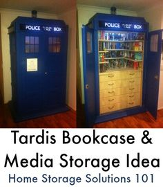 Here are a couple of ideas from readers for Tardis DVD Storage. If you're a Doctor Who fan these are a must see!