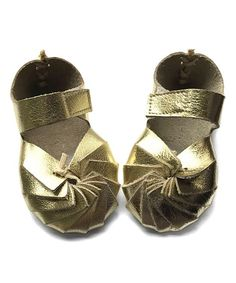 Gold Swirl Leather Moccasin