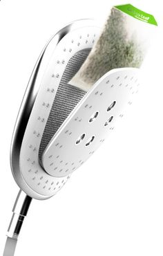 Herbal Infusion Shower Head! Imagine a lavender mint shower:)