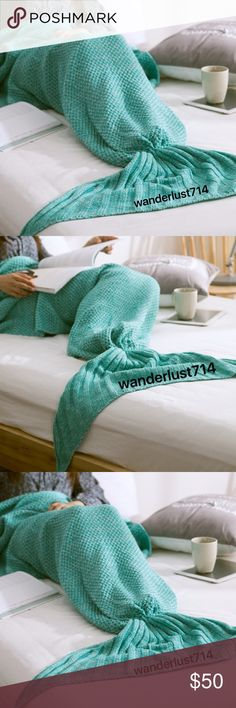 Made to order! Cute Mermaid Tail Blanket! Sometimes you just want to be a MERMAID!!! Blanket is made of super soft material. Thick, Warm,Comfy,Soft and Best Quality. The material is warm yet breathable, making it suitable for all seasons. It is good choice as Birthday, Christmas, New Year and all Holiday gifts. Use this blanket at sleepovers, in bed, on the couch, in the car, camping, dream of being a mermaid anywhere. Machine wash on cold (delicate cycle), Lay flat to dry (or handwash, cold…