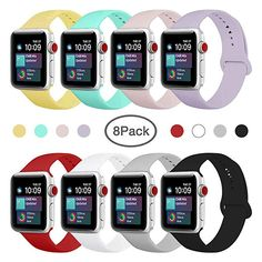 ENANYN Compatible Apple Watch Band Soft Silicone Sport Wrist Strap iWatch Replacement Bracelet Wristbands for Apple Watch Series of Size S/M,M/L Colors, M/L. Apple Watch Series, Apple Watch Bands, Apple Watch Wristbands, Laptop Computers, Fashion Brand, Cell Phone Accessories, Smart Watch, Iphone Cases, Series 4
