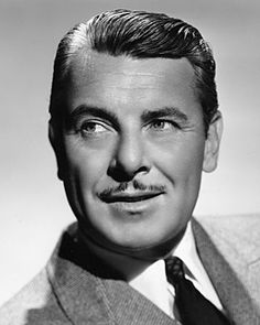 George Brent - George Brent (March 1899 - May was an actor in American cinema. Born George Brendan Nolan in Shannonsbridge, Ireland, Brent moved to Hollywood where he made his first film in Signed to a contract with Warner Brot Hollywood Star Walk, Hooray For Hollywood, Golden Age Of Hollywood, Vintage Hollywood, Vintage Hairstyles For Men, George Brent, Mustache Styles, Movie Stars, Beauty