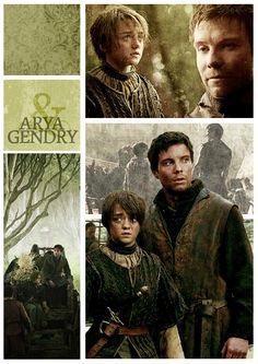 Arya Stark and Gendry ~ Game of Thrones Fan Art