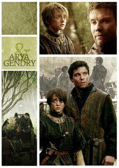Arya Stark and Gendry ~ Game of Thrones Fan Art