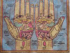 buddhistwitchery:  I'm guessing this is a reflexology or acupressure chart but I could be wrong.