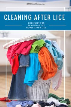 What do I need to sanitize after the kids have had lice? This is an awesome checklist of what needs to be cleaned (and what doesn't!) So Much Laundry, cleaning up after lice is no joke.