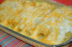 Green Chili Chicken Sour Cream Enchiladas