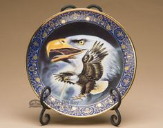 Native America Collector Plate u0026 Stand from The Franklin Mint Heirloom Recommendation - Profile of Freedom & Native America Collector Plate u0026 Stand from The Hamilton Collection ...