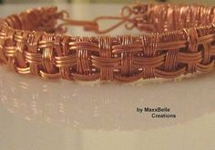 Layered Copper Wire Woven Bracelet by MaxxBelleCreations on Etsy