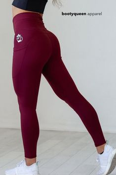 "Shaping and slimming legging with our signature deep pockets on each side. It also has our signature ultra high ""muffin top"" preventing seamless waistband that all of our hi-low pockets have, but due to the fit of the legging, this waistband now creates an even slimmer waistline. A legging is perfect for women: ~wanting more compression and shaping from their legging ~a dressy everyday legging to go with say a chunky sweater and some boots.  ~a legging not just for in the gym…"