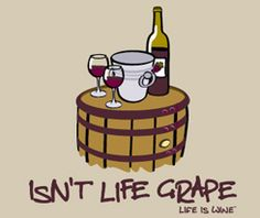 Wine bar is open THIS FRIDAY 1/10 6-10pm! Grape life = wine  (& we've got a lot of it)!