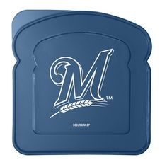 Milwaukee Brewers Plastic Sandwich Container - Clear