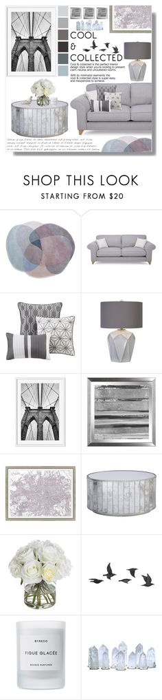 """Grey Decor"" by skybeauty1109 ❤ liked on Polyvore featuring interior, interiors, interior design, home, home decor, interior decorating, Madison Park, Vintage Print Gallery, Worlds Away and Diane James"