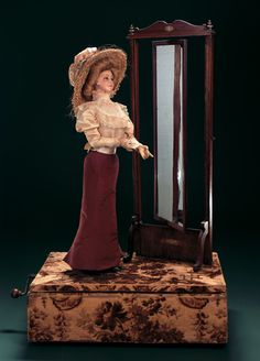 """Lot: 90. French Musical Automaton """"Femme … la Psyche"""" by Henry ..."""