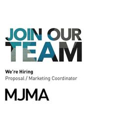 "We're expanding our Marketing Team and are looking for a creative, passionate person; a strategic thinker with a desire to win and make great projects; someone that shares MJMA's ethos of the pursuit of #designexcellence and elevating the quality of the public realm. . Let us know why this position interests you and why you are the ideal candidate by emailing careers@mjma.ca with the subject line ""Proposal / Marketing Coordinator"". . More details about this position can be found…"