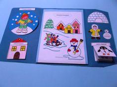Costruzione di un lapbook sull'inverno finalizzato a far percepire ai bambini il cambiamento dell'ambiente naturale nel susseguirsi delle stagioni,aiutarli a sistematizzare le esperienze e organ