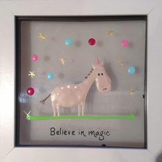 Plexiglass, Believe In Magic, Glass Dishes, Plexus Products, Unicorns, Fused Glass, Clock, Paintings, Frame