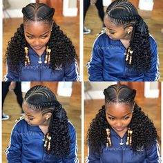 black braided hairstyles Image may contain: 3 people