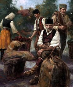 Nenad Mirkovich 1951   Serbian painter   Music playing