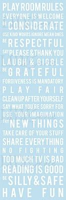 Playroom Rules... Love this... Stencilled on the way or printed and framed?
