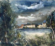 Au bord de la rivière By Maurice de Vlaminck