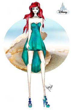 Croqui Ariel/Disney...