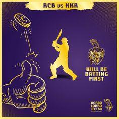 #RCB win the toss. #KKR will be batting first!  #KorboLorboJeetbo #OneTeamOnePledge #AllTheBestKKR