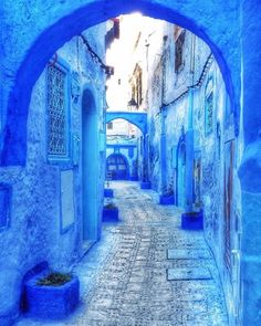 Would you love to be surrounded by all this blue? Photo by @homebehindtheworldahead in Chefchaouen Morocco. Thanks for tagging #travelstoke! by matadornetwork