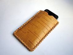 Phone Case Birch Bark simple wallet by betullaanna on Etsy