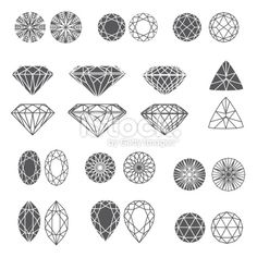 stock-illustration-21494305-set-of-diamonds.jpg (380×380)