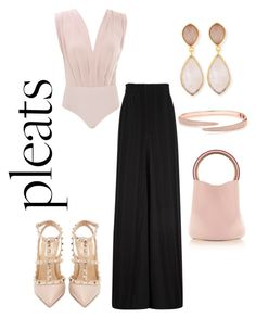 """""""Classic pleats"""" by thecelias ❤ liked on Polyvore featuring Marni, Dina Mackney and Valentino"""
