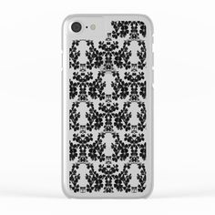primrose bw pattern Clear iPhone Case by ARTbyJWP from Society6 #clearcase #iphonecase #phonecases #floral #blackandwhite --   Shop clear iPhone cases featuring brilliant patterns and designs on frosted, transparent shells - created by the world's best independent artists.