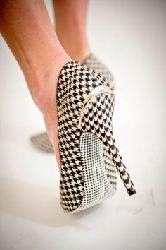 pata de gallo, houndstooth, vogue, inspiración, heels, shoes
